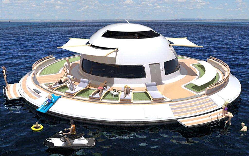 Jet Capsule S Ufo 2 0 Houseboat Launching On Kickstarter Insidehook