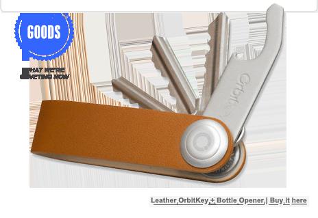 Leather Orbitkey + Bottle Opener