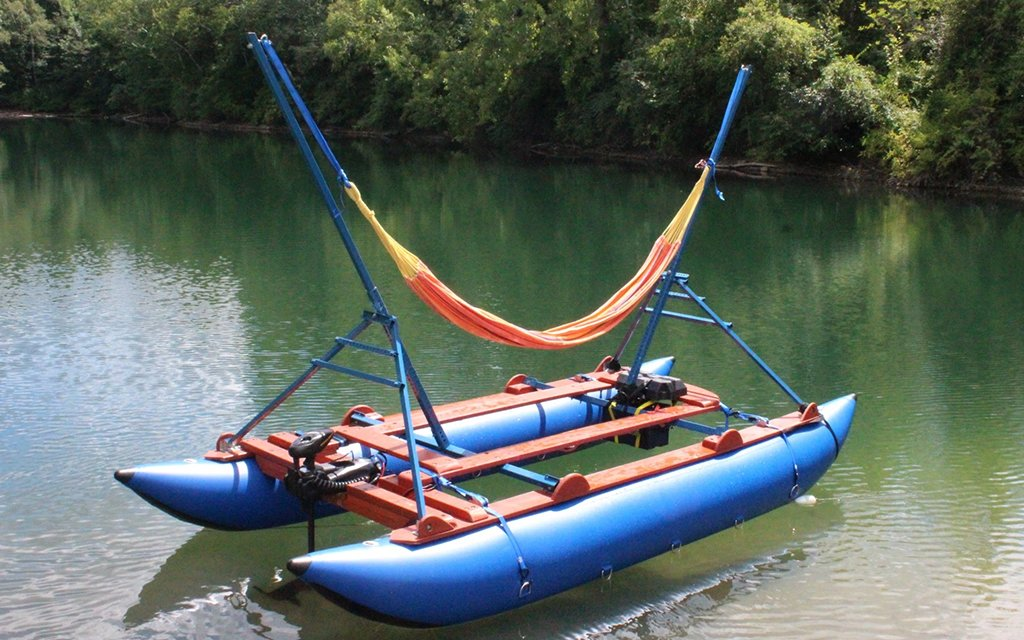 It's a Solar-Powered Motorized Hammock Boat, Dude - MelloShip Hammock Raft Is Funding On Kickstarter InsideHook