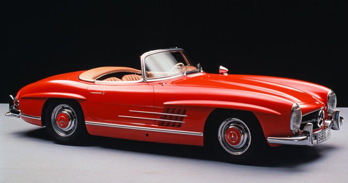 Mercedes drop top 300 sl roadster 60th anniversary for Mercedes benz drop top