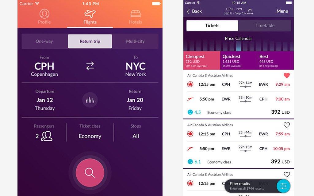Vacation hookup app