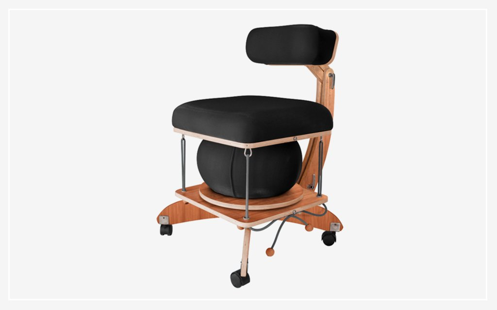 spr ng chair is balance ball and ergonomic chair in one. Black Bedroom Furniture Sets. Home Design Ideas