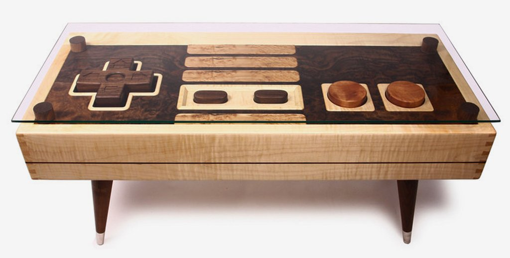 nes controller coffee tablebohemian workbench on etsy | insidehook